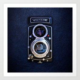 Black Retro Camera Art Print