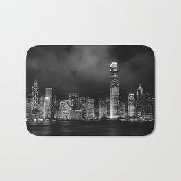 Hong Kong Skyline [Black & White] Bath Mat