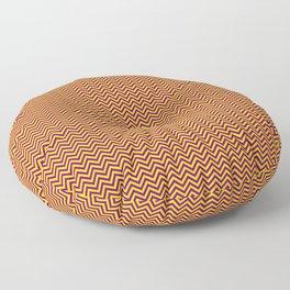 Chevrons #8 Purple and Yellow Floor Pillow
