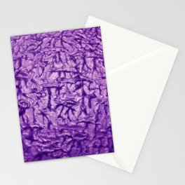 Purple Waves and Ripples Textured Wavelet Paint Art Stationery Cards
