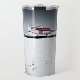 Snow on the Beach Travel Mug