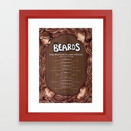 The Beards ~ Beards Beards Beards tour poster Framed Art Print
