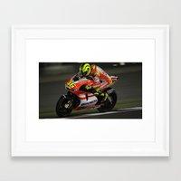 ducati Framed Art Prints featuring Ducati Bike by creejon