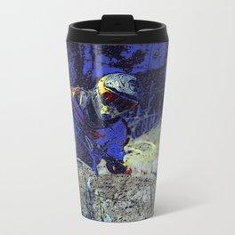 Trail Blazer Motocross Rider Metal Travel Mug