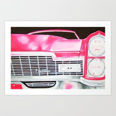 Pink Cadillac - Cotton Candy  Art Print