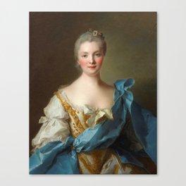 Madam de La Porte Portrait by Jean - Marc Nattier Canvas Print