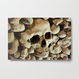 skull and bones Metal Print
