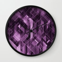 Abstract violet pattern Wall Clock