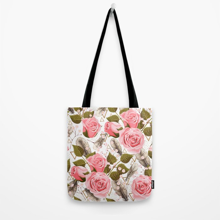 flowers with feathers Tote Bag