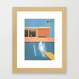 David Hockney Portrait of an Artist  Print On Framed Canvas Wall Art Home Decor