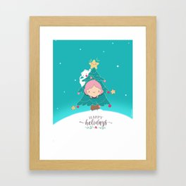 Beutiful Chrismas drawing Framed Art Print