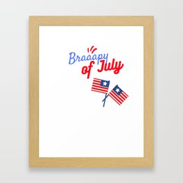 Braapy Fourth of July - July 4th Motocross Shirts - Moto MX Framed Art Print