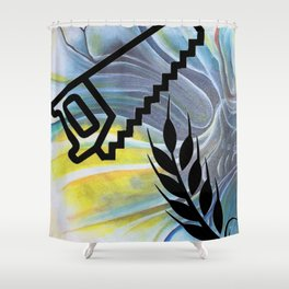Saw Wheat YGT Shower Curtain