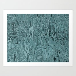 Metallia Teal Art Print