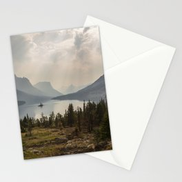 Panoramic Landscape Mountains & Lake Stationery Cards