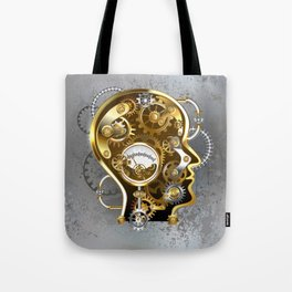 Steampunk Head with Manometer Tote Bag