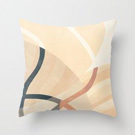 Converging Path Throw Pillow