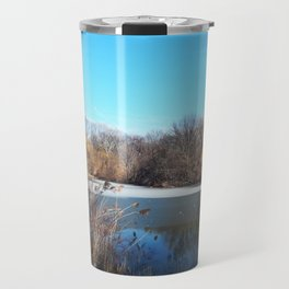 Winter in Central Park, NYC Travel Mug