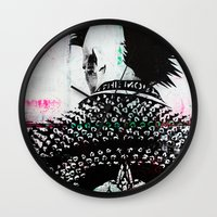 punk Wall Clocks featuring PUNK by Taylor Callery Illustration
