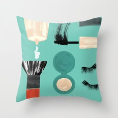Beauty Tools of the Trade Throw Pillow