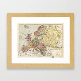 Atlas Map of Europe (1912) Framed Art Print