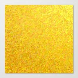 Yellow vibrations Canvas Print