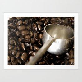 Fresh Coffee beans Art Print
