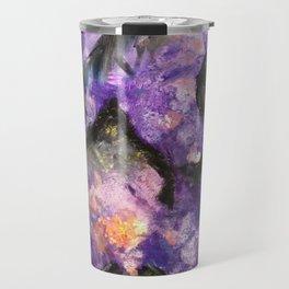Flowers and mountains Travel Mug