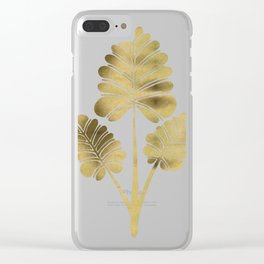 Tropical Palm Leaf Trifecta – Gold Palette Clear iPhone Case