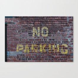 No Parking Canvas Print
