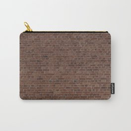 NYC Big Apple Manhattan City Brown Stone Brick Wall Carry-All Pouch