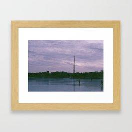 Lake Rink Framed Art Print
