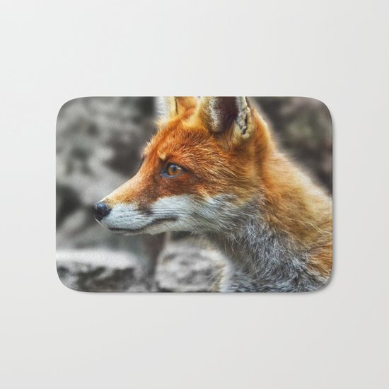 Friendly fox wildlife portrait Bath Mat