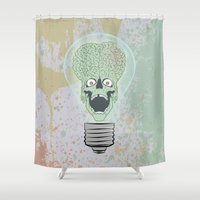 gore Shower Curtains featuring Think Martian  by Geekleetist