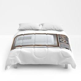 Patriotic Black And White Television Comforters