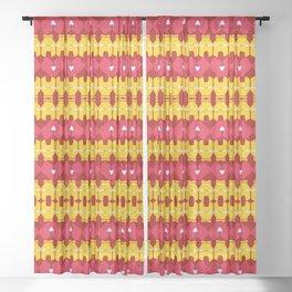 Iron Man Pattern Sheer Curtain