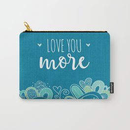 Love You More Heart Carry-All Pouch