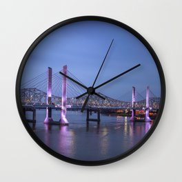 Lincoln Bridge Louisville, KY Wall Clock