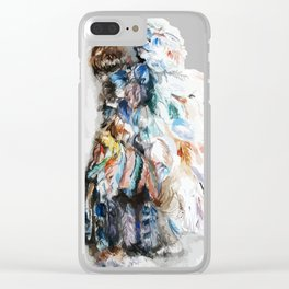Feather Headdress Clear iPhone Case