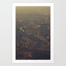 São Paulo & favelas  Art Print