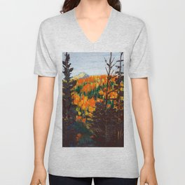 Forest Invermere by Dennis Weber of ShreddyStudio Unisex V-Neck