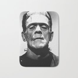 Frankenstein 1933 classic icon image, flawless, timeless horror movie classic Bath Mat