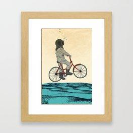 AQUA CYCLE Framed Art Print