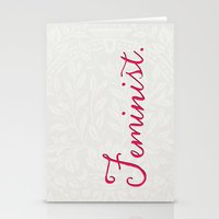 feminist Stationery Cards featuring Feminist. by Glimmersmith
