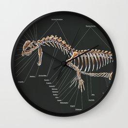 Dilophosaurus Wetherilli Skeleton Study Wall Clock