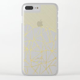Ab Lines 45 Gold Clear iPhone Case