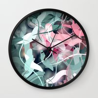 novelty Wall Clocks featuring Spring Birds by Moody Muse