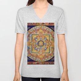 Buddhist Mandala 49 Green Tara Unisex V-Neck