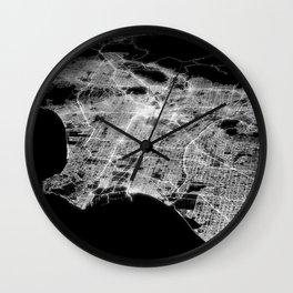Los Angeles map Wall Clock