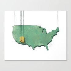 Suspended Geography Canvas Print